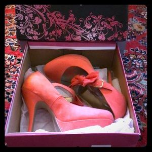 Coral High Heel with Bow